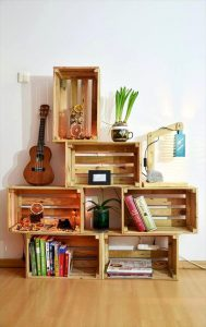 ایده دکوراتیو با جعبه چوبی میوه