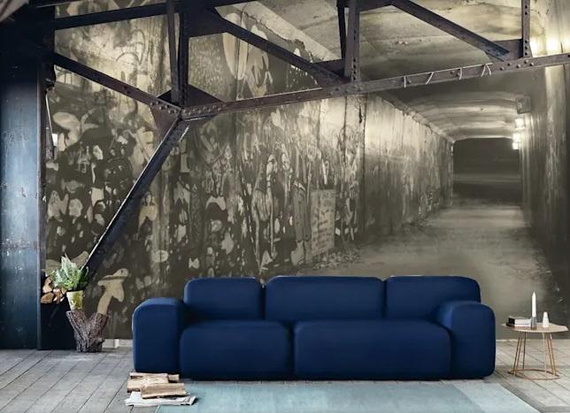 استفاده از کاغذ دیواری طرح دار برای ایجاد خطای دید