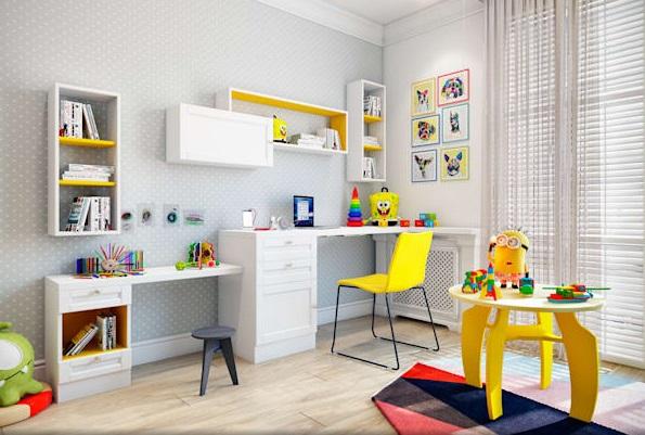 چهار پایه های کوچک در اتاق کودکان