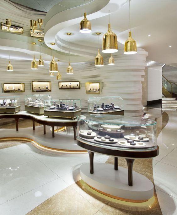 طراحی مغازه طلا و جواهر فروشی