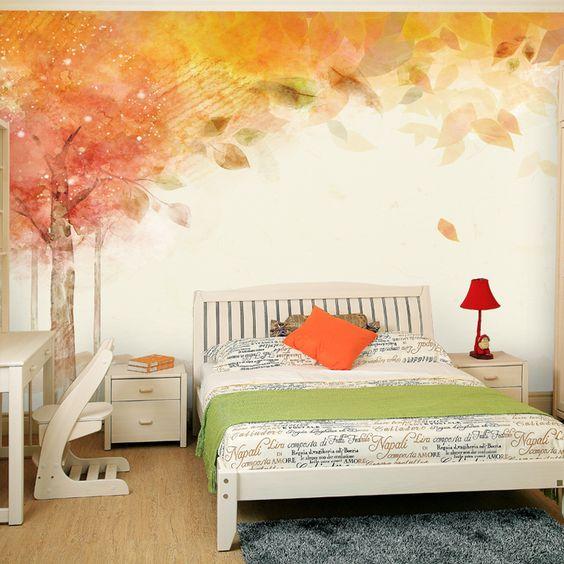 پوستر طرح منظره پاییزی