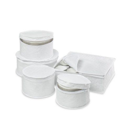 ست کاور ظروف سفید پارچه ای مدل dinnerwear