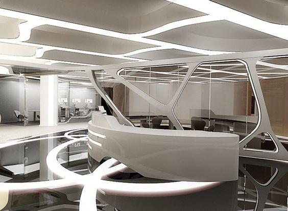 طراحی سقف کاذب و دیوار به همراه نورپردازی