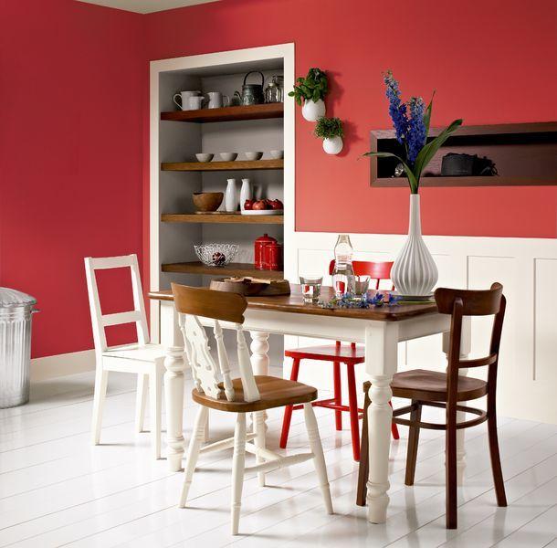 ایجاد تغییرات در اتاق غذاخوری با استفاده از رنگ
