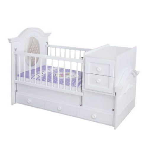 تخت و میز تعویض پوشک دومنظوره نوزاد آپادانا مدل CLASSIC