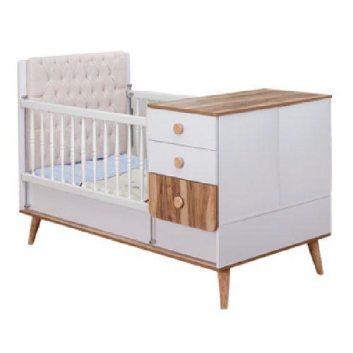 تخت خواب و میز تعویض پوشک دومنظوره نوزاد آپادانا مدل لیوا