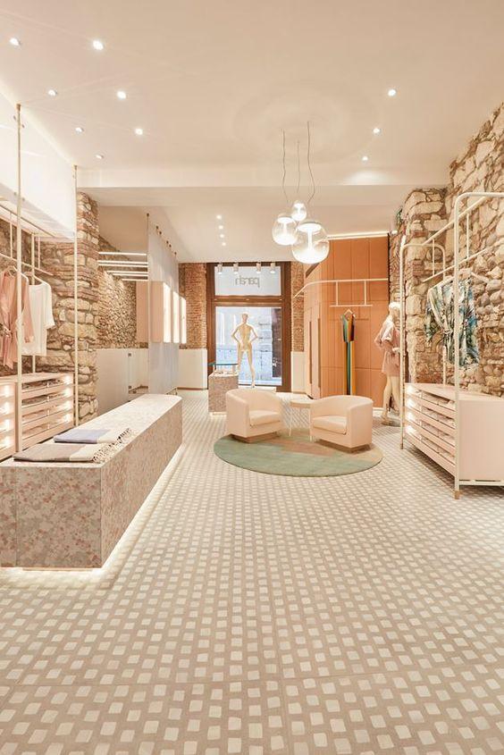 دکور مزون لباس ، طراحی داخلی مزون