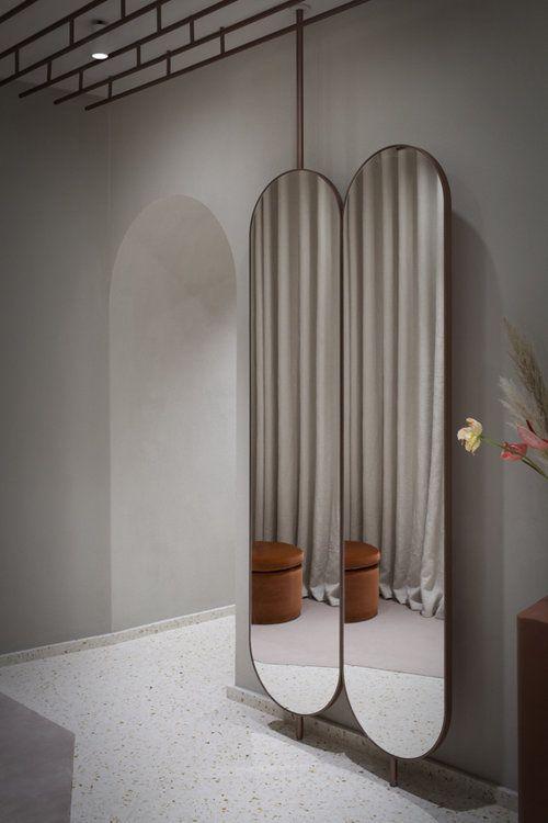 آینههای تمام قد در دکوراسیون داخلی مزون ، سبک ها و ایده ها