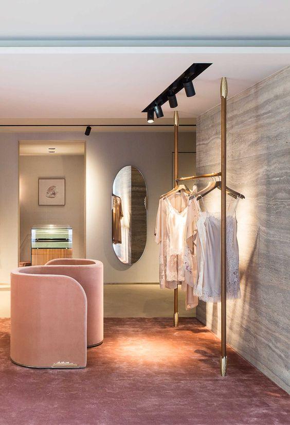 طراحی داخلی مزون ، نورپردازی
