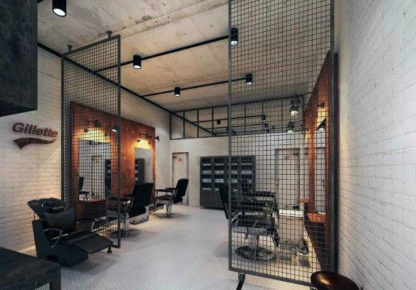 اصول و نکات دکوراسیون داخلی آرایشگاه مردانه
