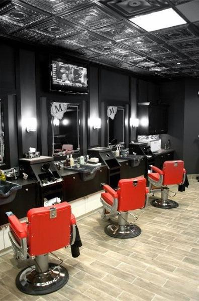 نورپردازی آرایشگاه مردانه