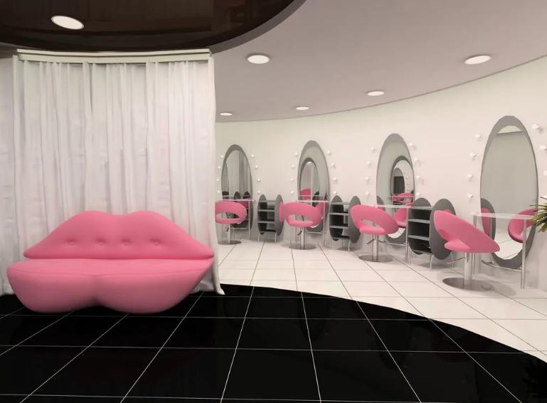 نظم در طراحی داخلی آرایشگاه زنانه