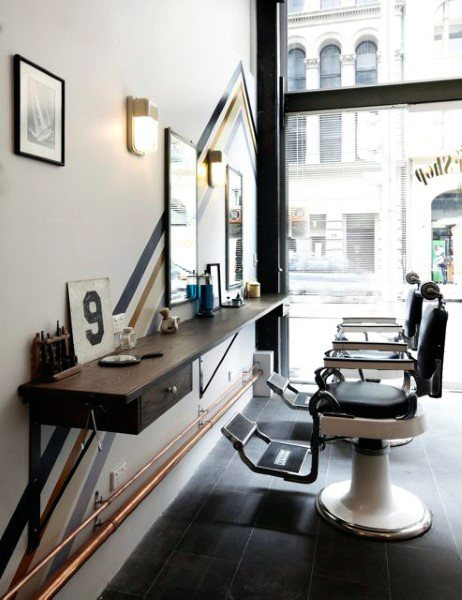 اصول طراحی داخلی آرایشگاه مردانه