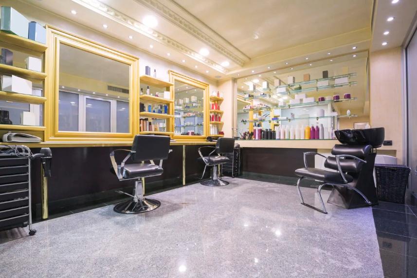 طراحی پلان آرایشگاه زنانه کوچک