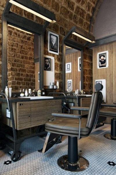 هماهنگی و تناسب در دکوراسیون داخلی آرایشگاه مردانه