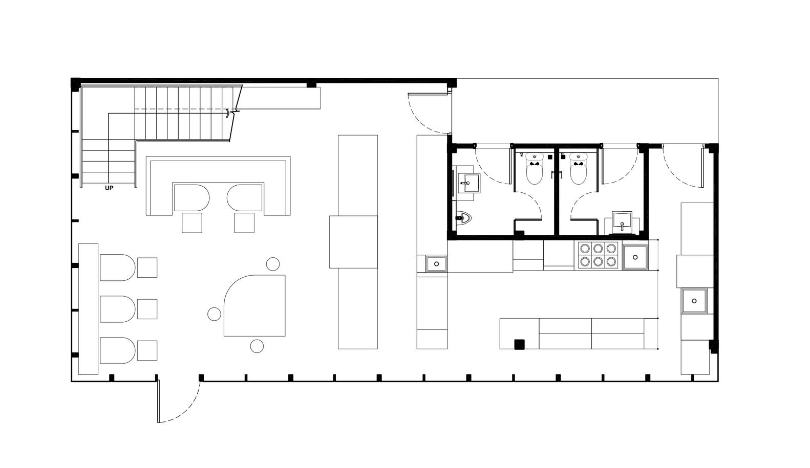 صاحب کافه قصد داشته به جای حس یک فضای صرفا مینیمال و مدرن، حس و حال دنج و گرمی به فضا بدهد.