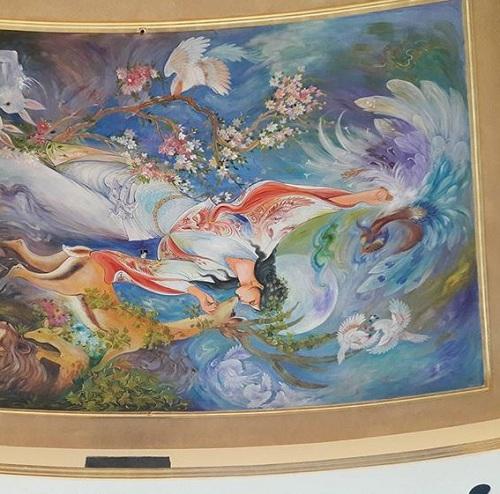 نقاشی مینیاتوری روی دیوار