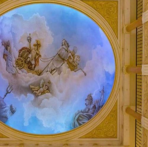 نقاشی مینیاتوری در سقف گنبدی