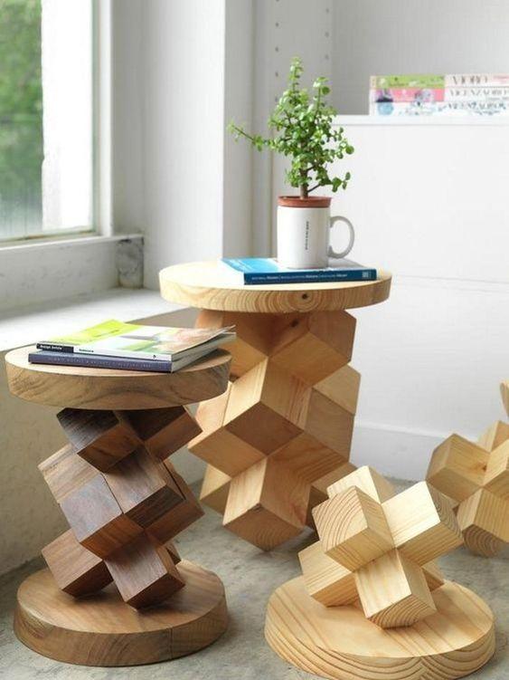 ایده های تزئینی رنگارنگ با مبلمان چوبی