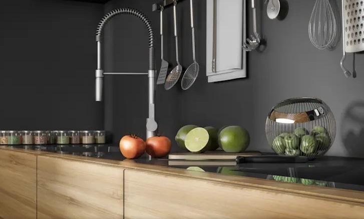 رنگ سیاه در آشپزخانه