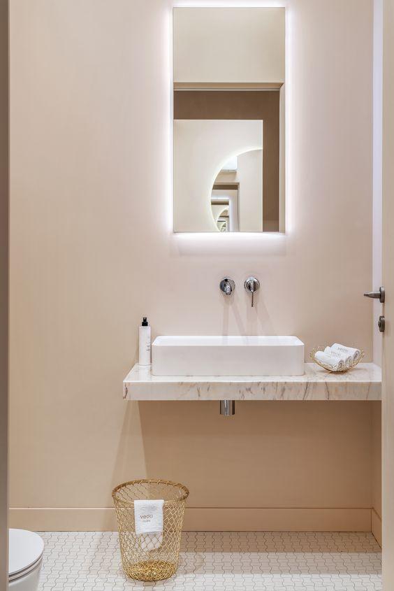 رنگ بژ در طراحی داخلی سرویس بهداشتی
