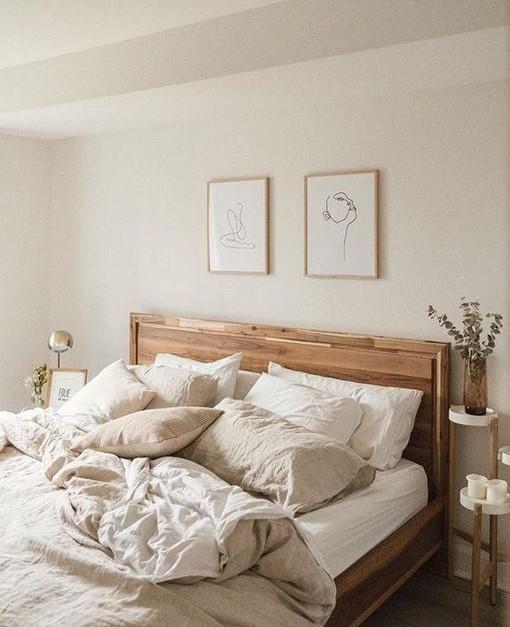 رنگ بژ ترکیب زیبایی با عناصر طبیعی مانند چوب ایجاد می کند.