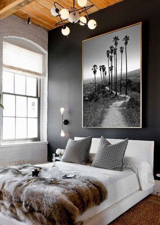 دیوار سیاه در اتاق خواب