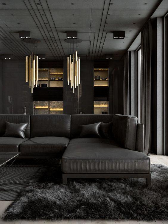 طراحی داخلی به رنگ مشکی