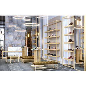 طراحی و قفسه بندی مغازه کیف و کفش
