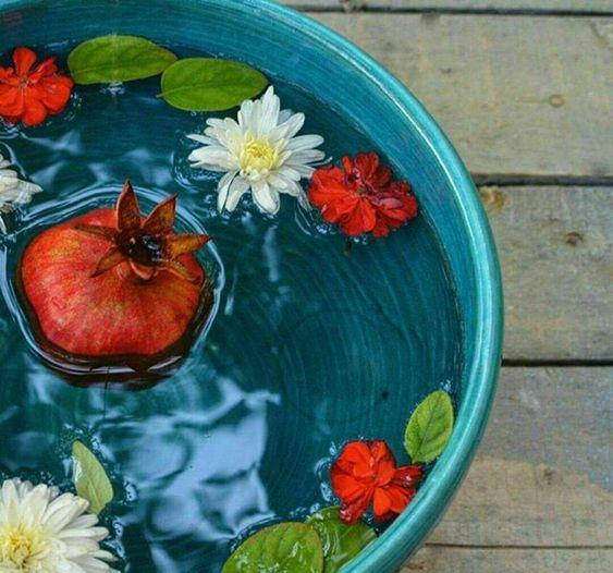 در کنار انار از گل و برگ نیز می توانید استفاده نمایید.