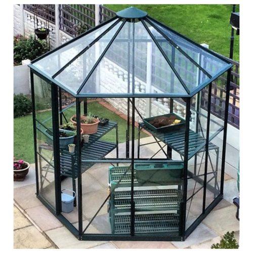 گلخانه خانگی شش ضلعی خانه سبز مدل هگزا