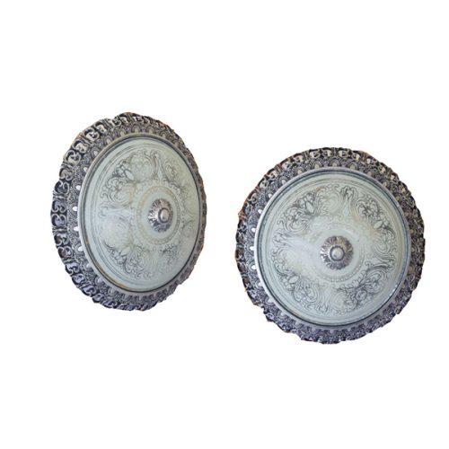 چراغ سقفی کلاسیک کیان لایت مدل سلطنتی نقره ای