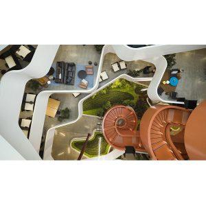 کانسپت طراحی دفتر کار B:Hive برای تبدیل یک دفتر کار مربوط به قرن 20 به یک فضای مرکزی در قرن 21، در ابتدا از Smales Farm گرفته شد و از این رو در مدل جدید این دفتر کار،