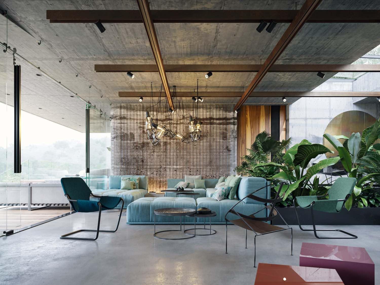کانسپت طراحی داخلی Atelier Villa در راستای Art Villa است
