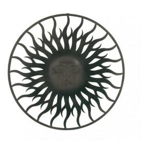 پلاک فلزی طرح صورت خورشید