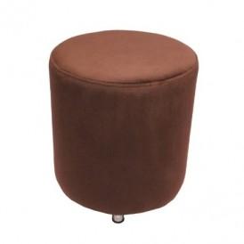 مبل پاف سهیل مدل استوانه ای مخملی قهوه ای