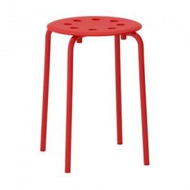 چهارپایه فلزی قرمز ایکیا مدل MARIUS