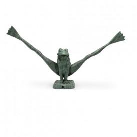 مجسمه تزئینی آبنما مدل غورباقه دیوانه