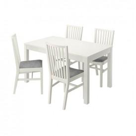 میز و صندلی ناهار خوری ۴ نفره مدل IKEA NORRNAS