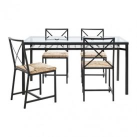 میز و صندلی ۴ نفره فلزی ایکیا گراناس GRANAS