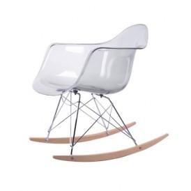 صندلی کروماتیک مدل شفاف Smoke Armrest Rocking Chair