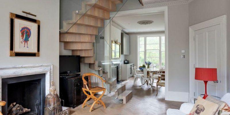 پلکان داخلی منزل : انواع راه پله برای خانه دوبلکس