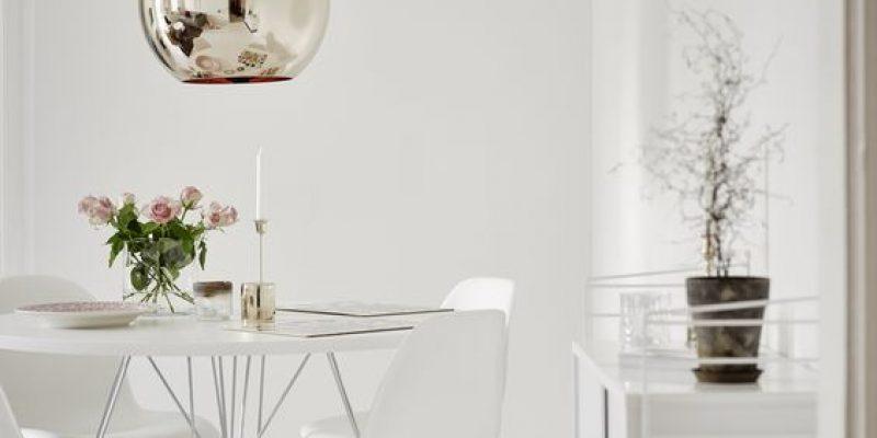 اتاق غذاخوری مدرن و دلباز به رنگ سفید!