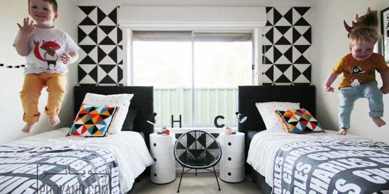 رنگ اتاق کودک فراتر از صورتی و آبی : ۷ پالت زیبا برای اتاق خواب دختر و پسر