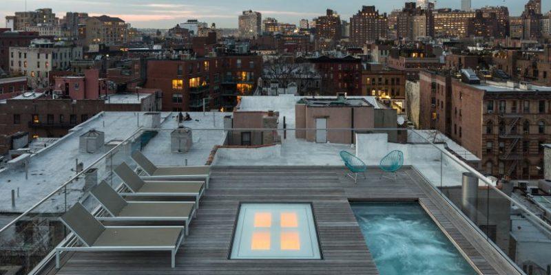 بازسازی پنت هاوس با تراس و استخر سقفی در منهتن / معماری TBD studio