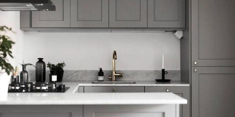رنگ طوسی در آشپزخانه : استفاده از طوسی و تنالیته های آن در دکوراسیون آشپزخانه !