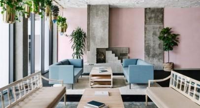 طراحی داخلی هتل Line Austin با بازسازی فضای داخلی برج قرن بیستمی