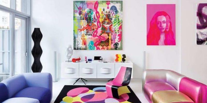 سبک پاپ آرت در دکوراسیون داخلی ؛ رنگ های نئونی، قدرتمند و تاثیر گذار!