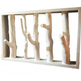 رخت آویز چوبی سازه مدل جنگلی