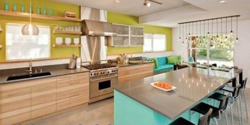 ۲۹ ایده رنگی خلاقانه آشپزخانه در جلوه دادن به فضا